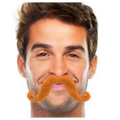 Orange Handlebar Moustache
