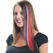 Red, White & Blue Hair Extension 15in