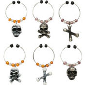 Bone Collector Wine Charms 6ct