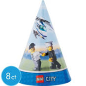 Lego City Party Hats 8ct