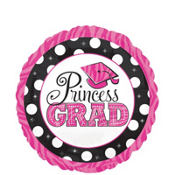 Foil Princess Grad Balloon 18in