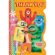 Yo Gabba Gabba Thank You Notes 8ct