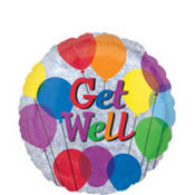 Colorful Get Well Balloon 18in