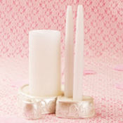 Heart Scroll Unity Candle Holder