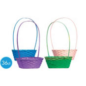 Round Bamboo Easter Baskets 36ct