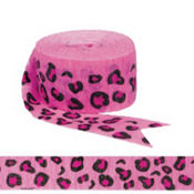 Bright Pink Leopard Streamer