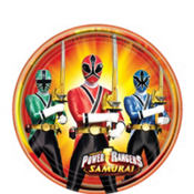 Samurai Power Rangers Dessert Plates