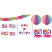 Add an Age Girl Birthday Room Decorating Kit 12pc