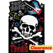 Party Rock Thank You Notes 8ct