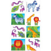 Jungle Animals Tattoos 16ct