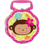 Monkey Love Lunch Box 5 5/7in x 5 5/7in