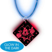 Mickey Mouse Necklace with Glow Pendant