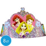 Foil Disney Princess Tiaras 8ct