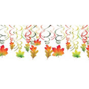 Fall Hanging Swirl Decorations 12ct
