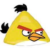 Foil Angry Birds Yellow Bird Balloon 23in
