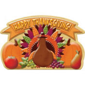 3D Turkey Decoration 20in