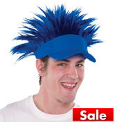 Blue Spikey Hair Visor