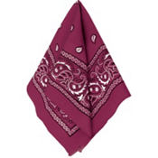 Burgundy Bandana 20in