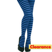 Adult Blue Striped Tights