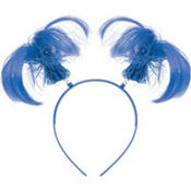 Blue Ponytail Head Bopper 8in