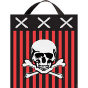 Fabric Pirate Treat Bag 15in