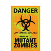 Biohazard Warning Sign Cutout 24in