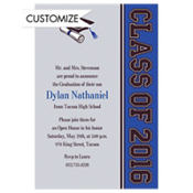 Colorblock Class Stripe Custom Invitation