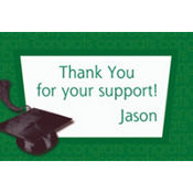 Green Congrats Grad Custom Thank You Notes
