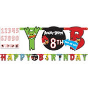 Add an Age Angry Birds Letter Banner 10ft