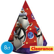 Madagascar Party Hats 8ct