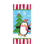 Joyful Snowman Party Bags 9 1/2in x 4in 20ct