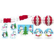 Joyful Snowman Room Decorating Kit 10pc