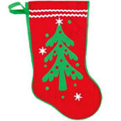 Christmas Tree Christmas Stocking 15in