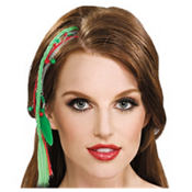 Christmas Feather Hair Extension 18in