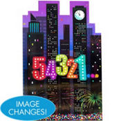 Lenticular Countdown New Years Sign 18in