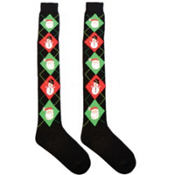 Argyle Santa Over the Knee Socks