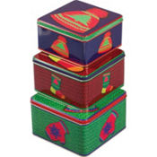 Warm Wishes Square Tin Set 3ct