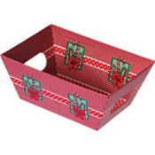 Small Candy Cane Gift Tray 6in
