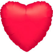 Metallic Red Jumbo Heart Balloon 32in
