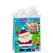 Medium Santas Work Shop Gift Bags 9in 12ct