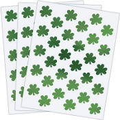 Metallic Shamrock Stickers 3 Sheets