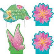 Tinker Bell Birthday Candles 4ct
