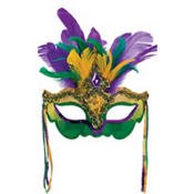 Venetian Feather Mardi Gras Mask
