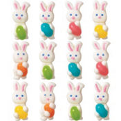 Bunny Icing Decorations 12ct