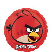 Foil Angry Birds Red Bird Balloon 18in
