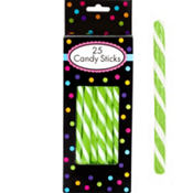 Kiwi Green Candy Sticks 25pc
