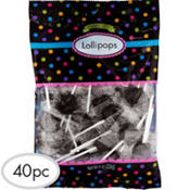 Black Lollipops 40pc