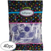 Royal Blue Lollipops 40pc