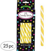 Yellow Candy Sticks 25pc