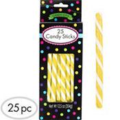 Yellow Candy Sticks 25pc